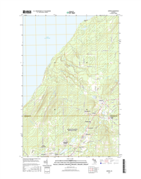 Ahmeek Michigan - 24k Topo Map