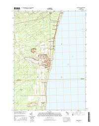 Alabaster Michigan - 24k Topo Map