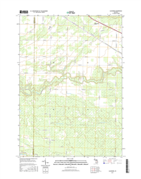Alamando Michigan - 24k Topo Map