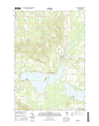 Alanson Michigan - 24k Topo Map
