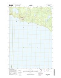 Albany Island Michigan - 24k Topo Map