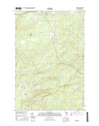 Alberta Michigan - 24k Topo Map