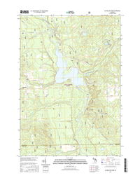 Alcona Dam Pond Michigan - 24k Topo Map