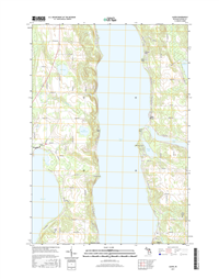 Alden Michigan - 24k Topo Map