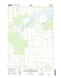Alicia Michigan - 24k Topo Map