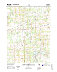 Allen Michigan - 24k Topo Map