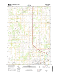 Alma North Michigan - 24k Topo Map