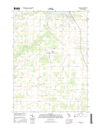 Alma South Michigan - 24k Topo Map