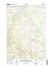Almont Michigan - 24k Topo Map
