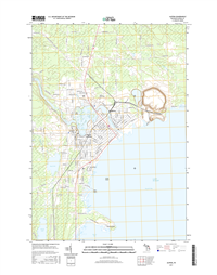 Alpena Michigan - 24k Topo Map