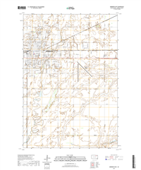 Aberdeen East South Dakota  - 24k Topo Map
