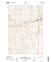 Aberdeen West South Dakota  - 24k Topo Map