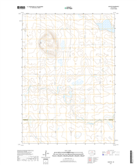 Agar NW South Dakota  - 24k Topo Map