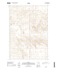 Akaska South Dakota  - 24k Topo Map