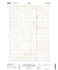 Akaska NE South Dakota  - 24k Topo Map
