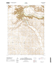 Alcester NE South Dakota - Iowa - 24k Topo Map