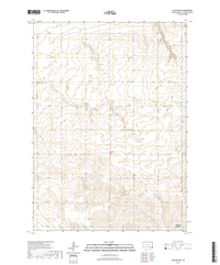 Alcester NW South Dakota  - 24k Topo Map