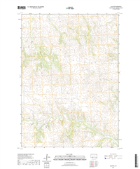 Allen SE South Dakota  - 24k Topo Map