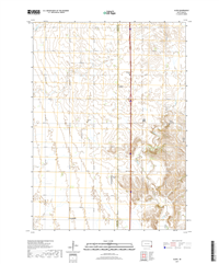 Alsen South Dakota  - 24k Topo Map