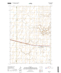 Andover South Dakota  - 24k Topo Map