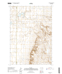 Andover SW South Dakota  - 24k Topo Map
