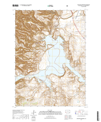 Angostura Reservoir South Dakota  - 24k Topo Map