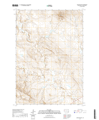 Antelope Butte South Dakota  - 24k Topo Map