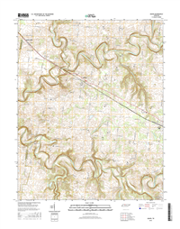 Adams Tennessee  - 24k Topo Map