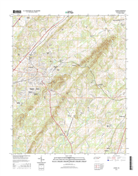 Athens Tennessee  - 24k Topo Map