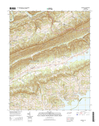 Avondale Tennessee  - 24k Topo Map