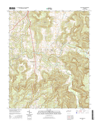 Bald Knob Tennessee  - 24k Topo Map