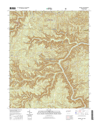 Barthell SW Tennessee - Kentucky - 24k Topo Map