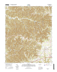 Baxter Tennessee  - 24k Topo Map