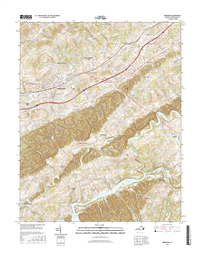 Abingdon Virginia  - 24k Topo Map