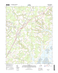 Accomac Virginia  - 24k Topo Map