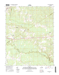 Adams Grove Virginia  - 24k Topo Map