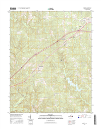 Alberta Virginia  - 24k Topo Map