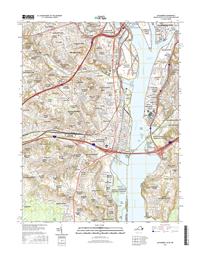 Alexandria Virginia -DC - Maryland - 24k Topo Map