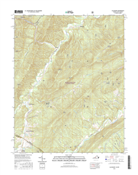 Alleghany Virginia - West Virginia - 24k Topo Map