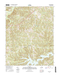 Alton Virginia - North Carolina  - 24k Topo Map