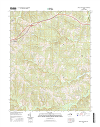 Amelia Court House Virginia  - 24k Topo Map