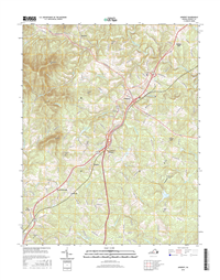 Amherst Virginia  - 24k Topo Map