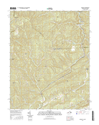 Amonate Virginia - West Virginia - 24k Topo Map