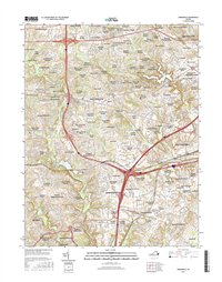 Annandale Virginia  - 24k Topo Map