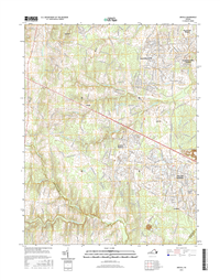 Arcola Virginia  - 24k Topo Map