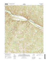 Arvonia Virginia  - 24k Topo Map
