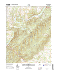 Ashby Gap Virginia  - 24k Topo Map