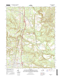 Ashland Virginia  - 24k Topo Map