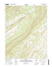 Augusta Springs Virginia  - 24k Topo Map