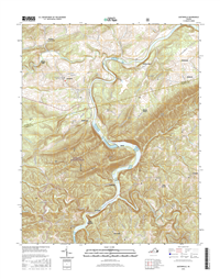 Austinville Virginia  - 24k Topo Map